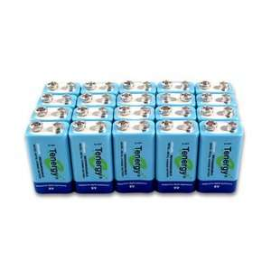 pieces of Tenergy 9V 250mAh NiMH high capacity rechargeable Batteries