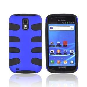 ForT Mobile Samsung Galaxy S2 Blue Black Rubberized Dual