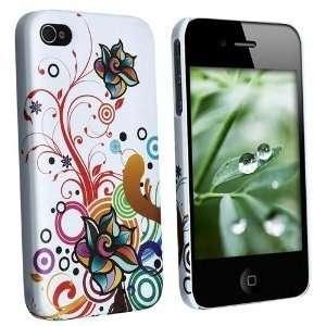 iPhone 4/4S   White Autumn Flowers Design Cell Phones & Accessories