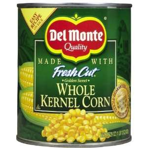 Del Monte Fresh Cut Golden Sweet Whole Kernel Corn, 29 oz, 12 pk