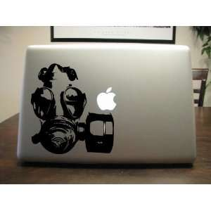 Gas Mask Vinyl Decal For Car Window, Laptop, Wall Etc