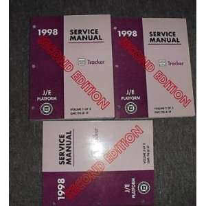 1998 Chevrolet Chevy Geo Tracker Service Manual Set Oem (3