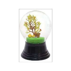 Vienese glass snow globe with harvest tree