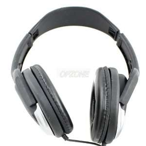 Topzone 3.5/6.5mm Professional Stereo Black Headphones Electronics