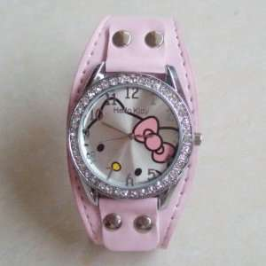 Childs Pink Cuff Classic Hello Kitty face Is About the