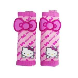 A Set of 2 Hello Kitty Pink Mesh Seat Belt Pads