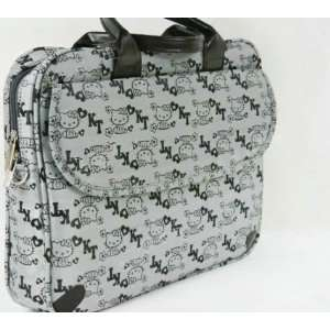14 Lovely Gray Colored Hello Kitty Style Computer Bag/Laptop