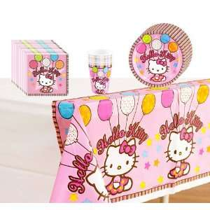 Hello Kitty Party Supplies Pack Including Plates, Cups