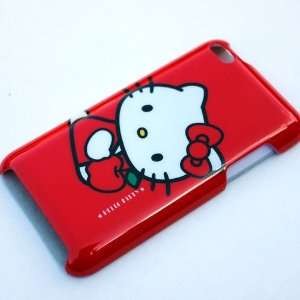 Hello Kitty Red Apple Back Hard Case Cover for Ipod Touch