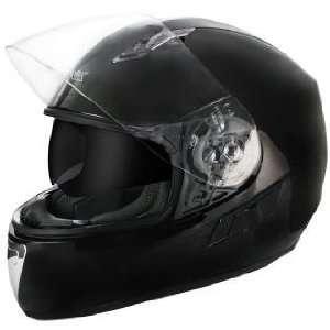 Advanced Dual Visor Black Motorcycle Helmet Sz L