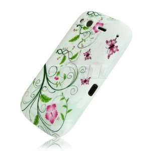 GREEN VINE BUTTERFLY SILICONE GEL CASE FOR HTC DESIRE S Electronics