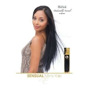 Mink Yaki 100% Real Human Hair Extensions Weave #1 (Jet Black) Beauty