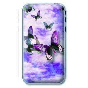 Apple Iphone 4/4g Beauty Butterfly Picture Soft Skin Case