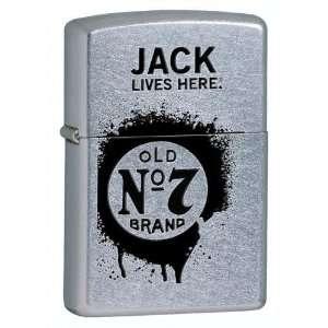 Zippo Jacks Daniels Street Chrome Pocket Lighter Sports