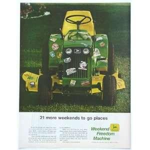 1969 John Deere Lawn Tractor 21 Weekends Print Ad (1148