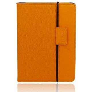 Slim Profile Leather Case Cover fits the  Kindle Touch (ORANGE