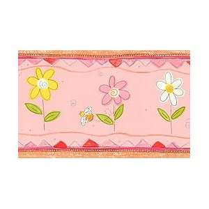 : Bumble Bees & Daisies   Girls Wallpaper Wall Border: Home & Kitchen