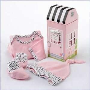 Home Baby 3 Piece Layette Set in Keepsake Gift Box (Pink) Baby