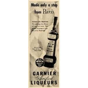 1936 Ad Garnier Liqueurs Creme Menthe Mint Alcohol Wile
