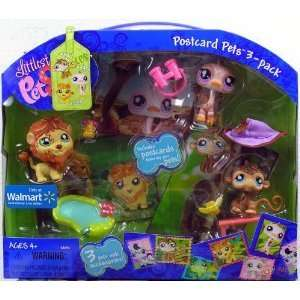 Littlest Pet Shop Exclusive Postcard Pets 3 pack in Carry