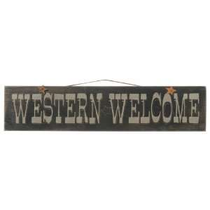 Large Western Welcome Sign