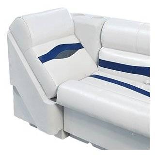 White Vinyl Pontoon Lounge Boat Seat Cover