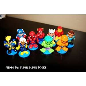Marvel Comics Mini Super Heroes Spider man, Hulk, Captian America, and