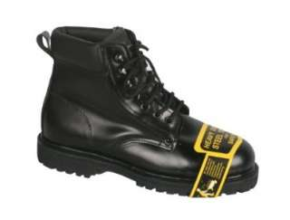 Mens Lace up Oxford Steel Toe Black Leather Work Boots