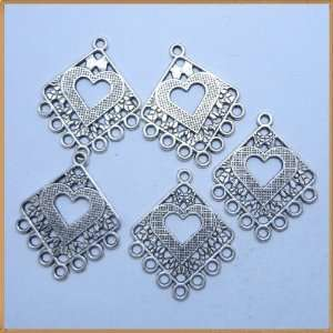 Tibetan silver Rhombic shape Charms Pendant Beads Findings 10 Pcs