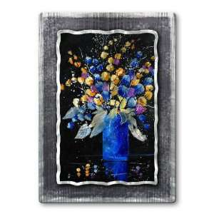 Pol Ledent trees flowers metal wall art, modern wall sculpture, metal