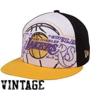 Lakers Gold White Black Little Big Pop 9FIFTY Snapback Adjustable Hat