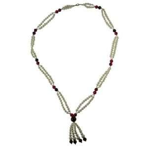 Multi Strand Color Pearl Necklace   Dual Strand Multi Colored Bead