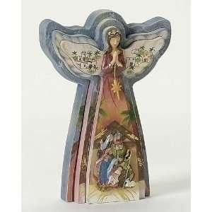 Angel with Nativity Scene Christmas Figures 8