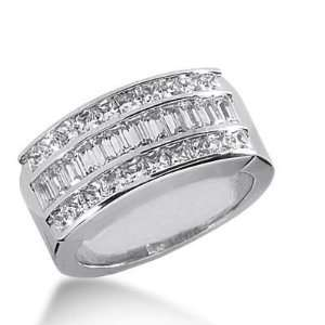 14k Gold Diamond Anniversary Wedding Ring 20 Princess Cut, 22 Straight