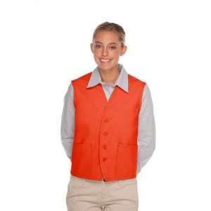 DayStar 742 Two Pocket Uniform Vest Apron   Orange