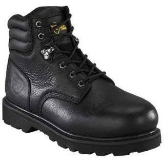 Mens Lace up Oxford Steel Toe Black Leather Work Boots 206s Shoes