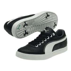 Puma C Hopper ML Mens Golf Shoe   Black/White/Steel Grey