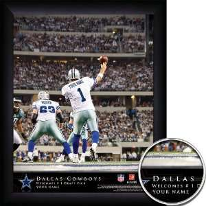Dallas Cowboys Personalized NFL Action QB Framed Print