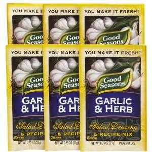 Good Seasons Salad Dressing & Recipe Mix, Garlic & Herb, 0.75 oz   6