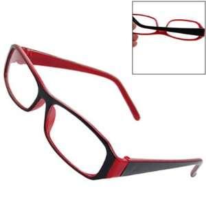 Como Black Red Frame Full Rim Clear Lens Plain Glasses Spectacles for