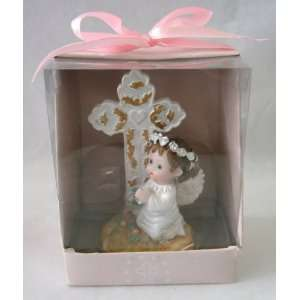 Angel Praying Cross Statue Religious Gift Boxed Party Favors CR088W P
