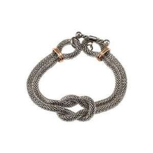 Steel Mesh Bracelet with Rose Gold Plating 7 1/2in/Stainless Steel