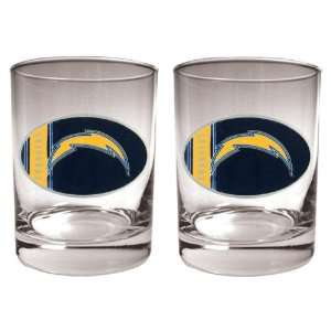 San Diego Chargers   NFL 14oz Rocks Glass Gift Set (2 Pack)