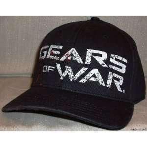 GEARS OF WAR Black Logo Flex Fit Baseball Cap HAT