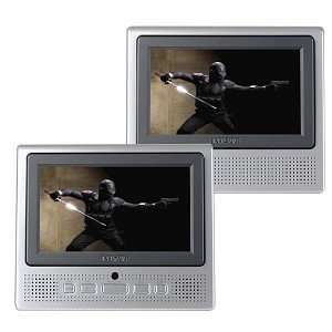 Dual Widescreen Portable DVD Player w/Carrying Case (Silver/Black