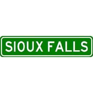 SIOUX FALLS City Limit Sign   High Quality Aluminum