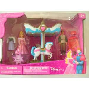 Disney Sleeping Beauty & Phillip Carousel Figure Playset