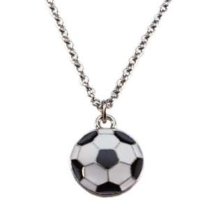 Soccer Ball Necklace with Surgical Steel Chain 16 inches Jewelry