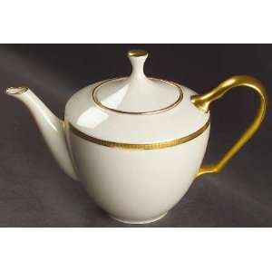 China Tuxedo (Gold Backstamp) Tea Pot & Lid, Fine China Dinnerware