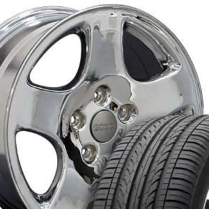 A4 Style Wheels and Tires Fits Audi   Chrome 16x7 Set of 4